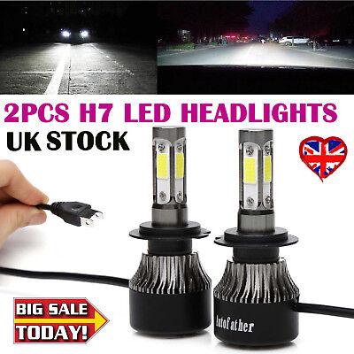 Mini H7 LED Headlight Fog Lamp High or Low Beam Bulbs 6000K Bright VS Xenon HID
