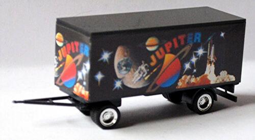 Kirmes Transport Anhänger schwarz Packwagen JUPITER Karussell 1:87 Faller 1034