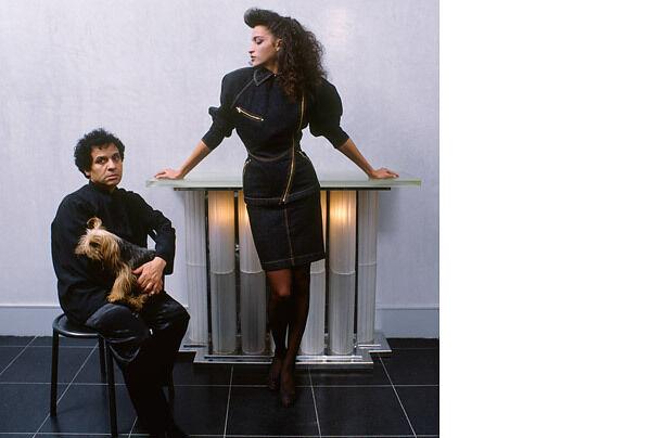 Iconic Azzedine Alaia vintage denim jacket and sk… - image 1