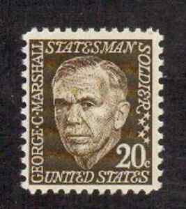 Scott #1289..20 Cent.. George C. Marshall....50 Stamps
