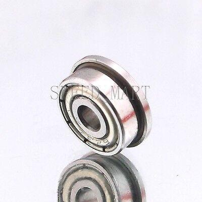 8mm*16mm*5mm 2 x F688zz Mini Metal Double Shielded  Flanged  Ball Bearings