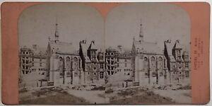 Château Da Blois La Cappella Foto Stereo Vintage Albumina Ca 1875