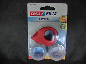 tesa-FILM-Doppelpack-Abroller-57937-kristall-klar-2x-10mx19mm-1m-0-245-WS