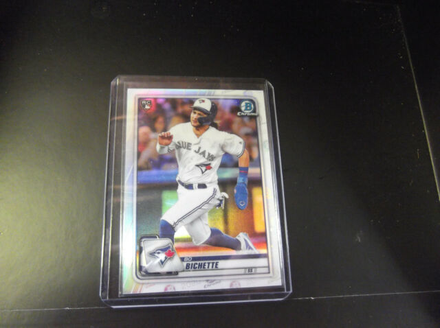 BO BICHETTE 2020 BOWMAN CHROME #50 PHOTO VARIATION REFRACTOR RC SSP BLUE JAYS