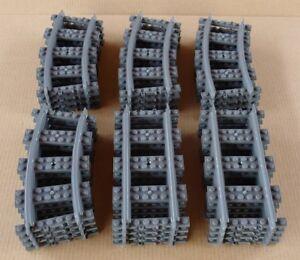 100% De Qualité Lego City Train - Lotto 24 Binari - Nuovi Mai Giocati - 7939 60098 60051 60052