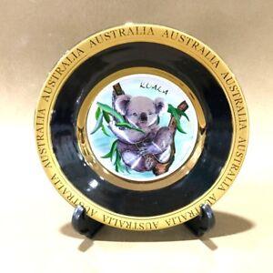 Australia-Souvenir-Plate-w-Stand-High-Quality-Australian-Animal-Koala