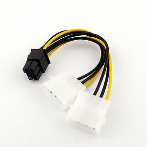 4-Pin Best.Molex Male to 6-PinPCI Express PCIE Female Power Adapter CableCordRS