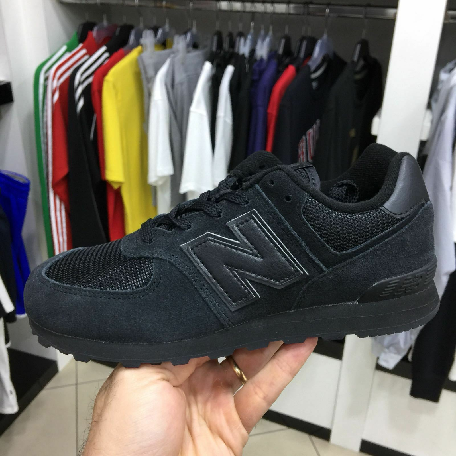 New Balance 574 shoes Sneaker Ragazzo Ragazza black Total BLACK new arrive 2018
