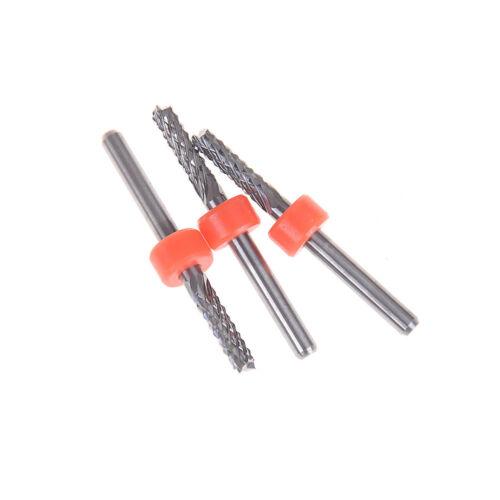 3.175mm Carbide Tungsten Corn Cutter cutting PCB milling bits CNC router biBLUS