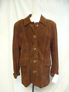 Coat 2538 Leather Bnwt Real Brown woodlands Ladies Xl 4gdx008