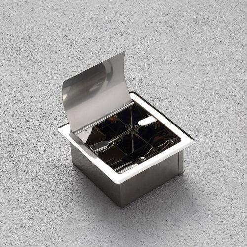 Chrome Paper Holder Toilet Bathroom Stainless Steel Tissue Roll Recessed Storage