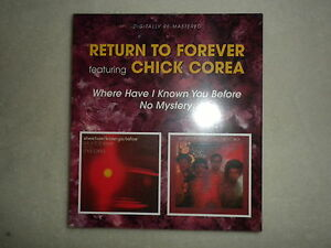 2-CD-RETURN-TO-FOREVER-034-Where-have-I-known-you-before-No-mystery-034-Neuf