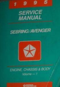 1995 Chrysler Sebring Dodge Avenger Shop Repair Service Manual ENGINE CHASSIS BO