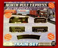 North Pole Express Train 18 Pc Set 3 Cars 14 Piece Oval Track Xmas Priority