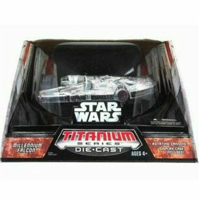 Star Wars Titanium Series Die.cast Milennium Falcon 2006 New