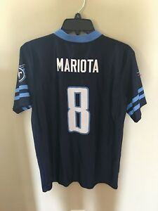 Discount NFL Team Apparel XL 16 18 Marcus Mariota Jersey Tennessee Titans #8  for sale