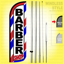 Barber Shop Windless Swooper Flag Kit 15 Feather Banner Sign Wq003 H