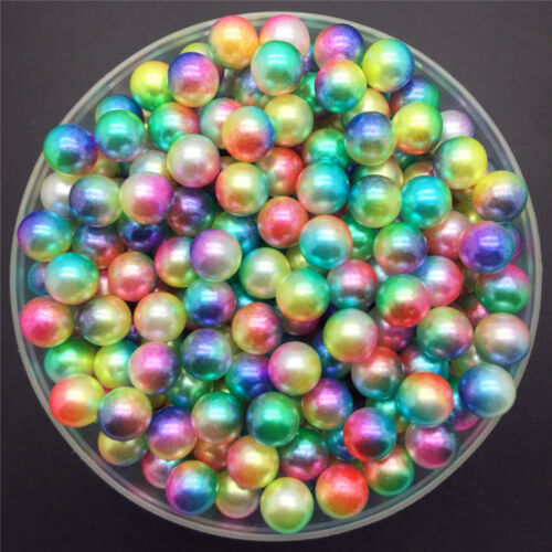 NEW 200PCS 4mm Color Acrylic No Hole Round Pearl Loose Beads Jewelry Making 02