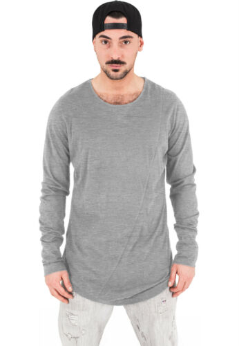 Urban Classics Herren longsleeve Shirt extra lang long Shirt oversize T Pullover