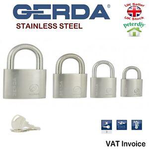 Gerda Resistente De Acero Inoxidable Grillete de Seguridad Candado Abierto 30-60 mm resysta  </span>
