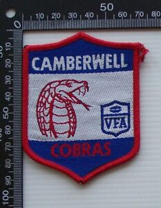 RARE VINTAGE VFA CAMBERWELL COBRAS EMBROIDERED WOVEN CLOTH VFL SEW-ON BADGE
