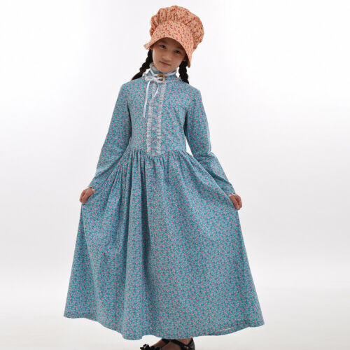 Colonial Civil War Girls Cameo Brooch Costume Pilgrim Girl Dress Puritan Cosplay