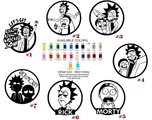 Rick and Morty Vinyl Decal Sticker Adult Swim Cartoon Car Window Decor Wall Art