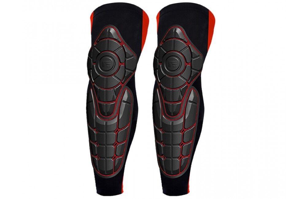 Nuevo G-form Pro-X hasta la rodilla shin Guard, Negro Rojo, Talla XS