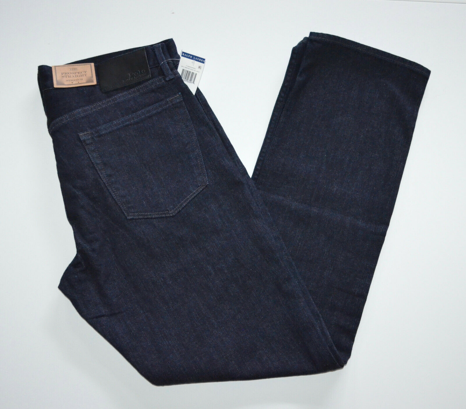 NWT Men's Polo Ralph Lauren Jeans The Prospect Straight, Dark bluee, W 33 L 30