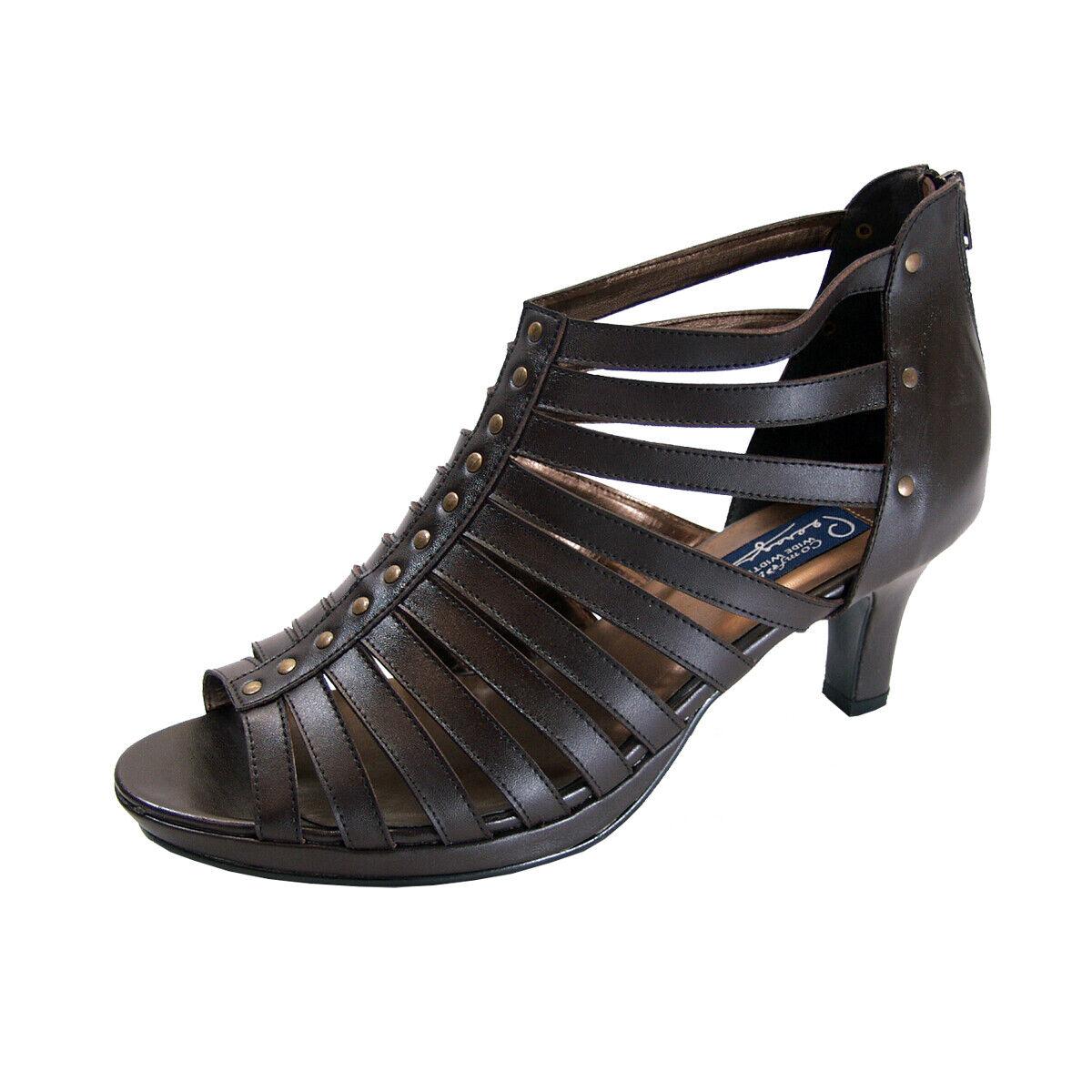 Peerage Gloria Women Wide Width Leather Wedge Nice Pump