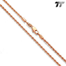T/&T 3.5mm 9K Rose Gold Filled Figaro 3+1 Chain Necklace CF102Z 3