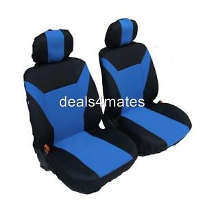 RENAULT KANGOO CLIO MEGANE  SEAT COVERS FABRIC FRONT  BLUE 1+1