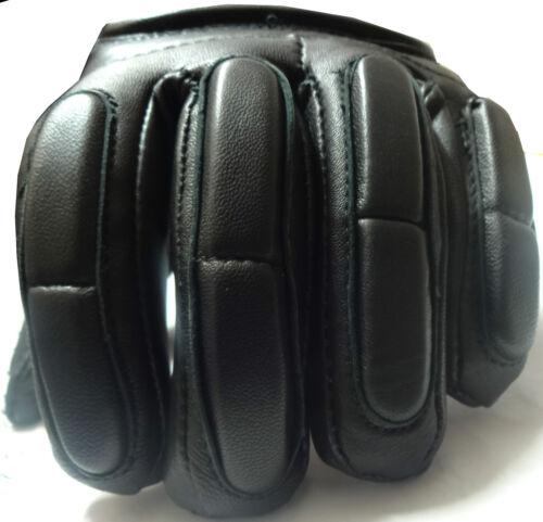 M  Padded Fingers Leather Gloves Motorcycle Motorbike Waterproof Thermal Mittens