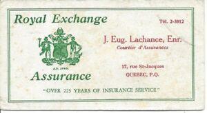 Buvard-Blotter-Royal-Exchange-Assurance-J-Eug-Lachance-Quebec-19-563