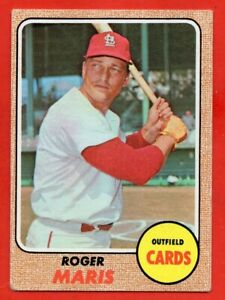 1968 Topps #330 Roger Maris VG-VGEX+ WRINKLE St. Louis Cardinals FREE SHIPPING