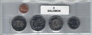 Ponctuel Iles Salomon Série De 5 Pièces De Monnaie Fabrication Habile