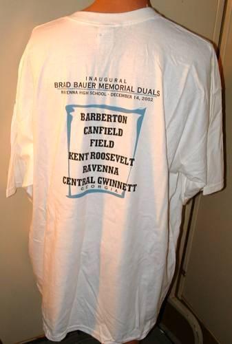Brad Bauer Inaugural  Memorial Wrestling Duals December 2002 3 xl