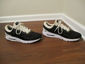 low priced 0d9bc e6c8c Details about Used Worn Size 12 Nike Air Max Zero Premium Shoes Black &  White