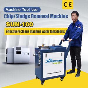 SUN-100 Chip/Sludge Removal Machine CNC Machine Water Tank Clean Free Shipping