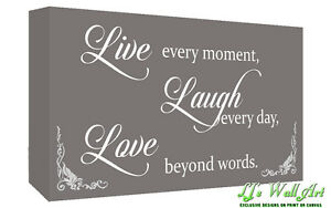 Love Quote Canvas Amazing Grey Live Laugh Love Quote Canvas Wall Art Picture Print  A1 A2