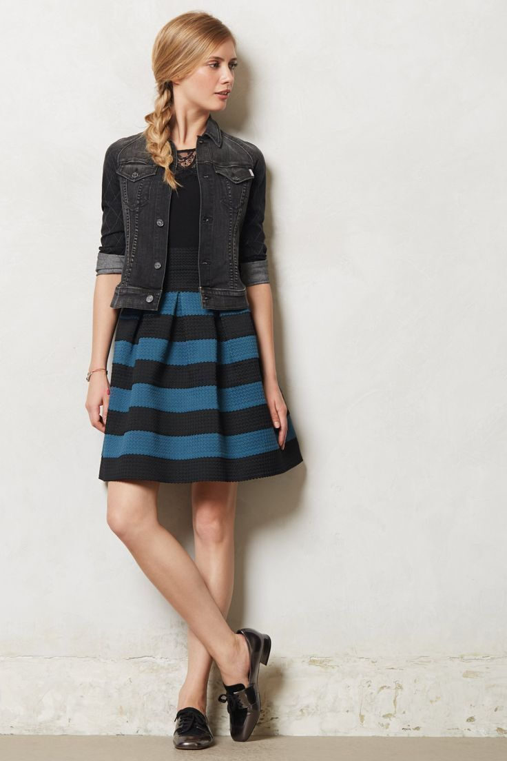 Anthropologie Skirt High Waist Full Pleated Scalloped By Girls from Savoy,  M L