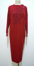 KRIZIA ANIMAL VINTAGE '80 Abito Vestito Donna Lana Woman Wool Dress Sz.XL - 48