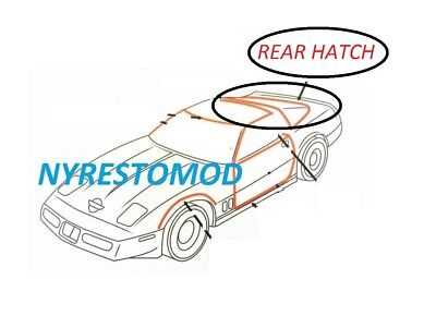 Rear Hatch Liftback Liftgate Weatherstrip Seal Rubber for 84-96 Corvette Coupe