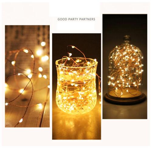 50 LED Copper Wire Fairy String Light Bedroom Home Decoration Lamp Lights Set 5M