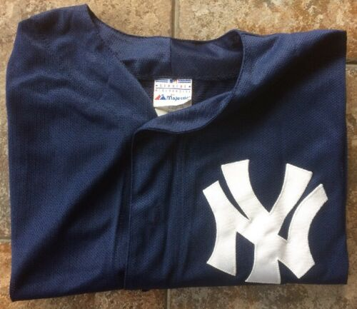 Genuine Majestic New York Yankees MLB Sewn Jersey 125th Anniversary Size L RARE