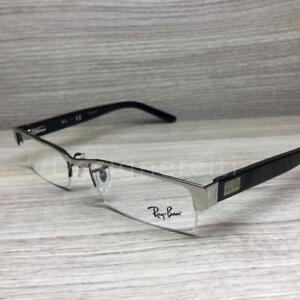 3f51f50abcf Ray Ban RB 6182 RB6182 Eyeglasses Silver Black 2509 Authentic 53mm ...