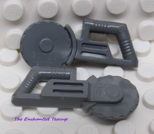 Lego Circular Saw Tool Dark Blusih Gray Lot of 2 New