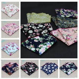 Men-Stylish-Floral-Cotton-Hanky-Handkerchief-Suit-Wedding-Pocket-Square