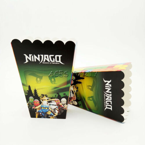 Ninjago Theme Birthday Party Decoration Popcorn Box for Kids Party Supply