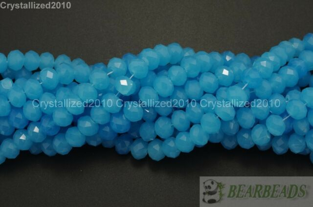 100Pcs Top Quality Czech Crystal Opal Bright Faceted Rondelle Spacer Beads Pick